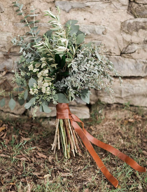 bouquet with foliage only