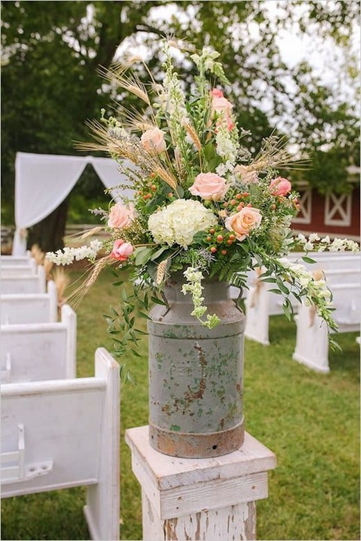 diy bride flower in cans