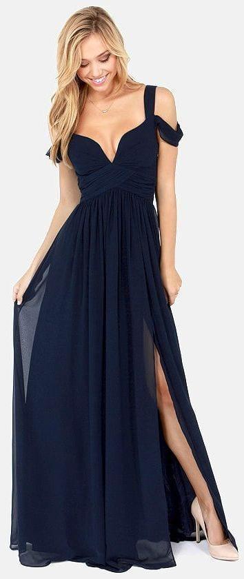 fashionable long bridesmaid dresses 2017