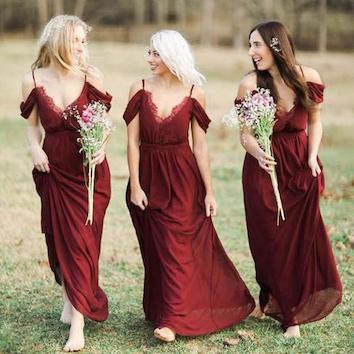 fashionable long bridesmaid dresses 2017