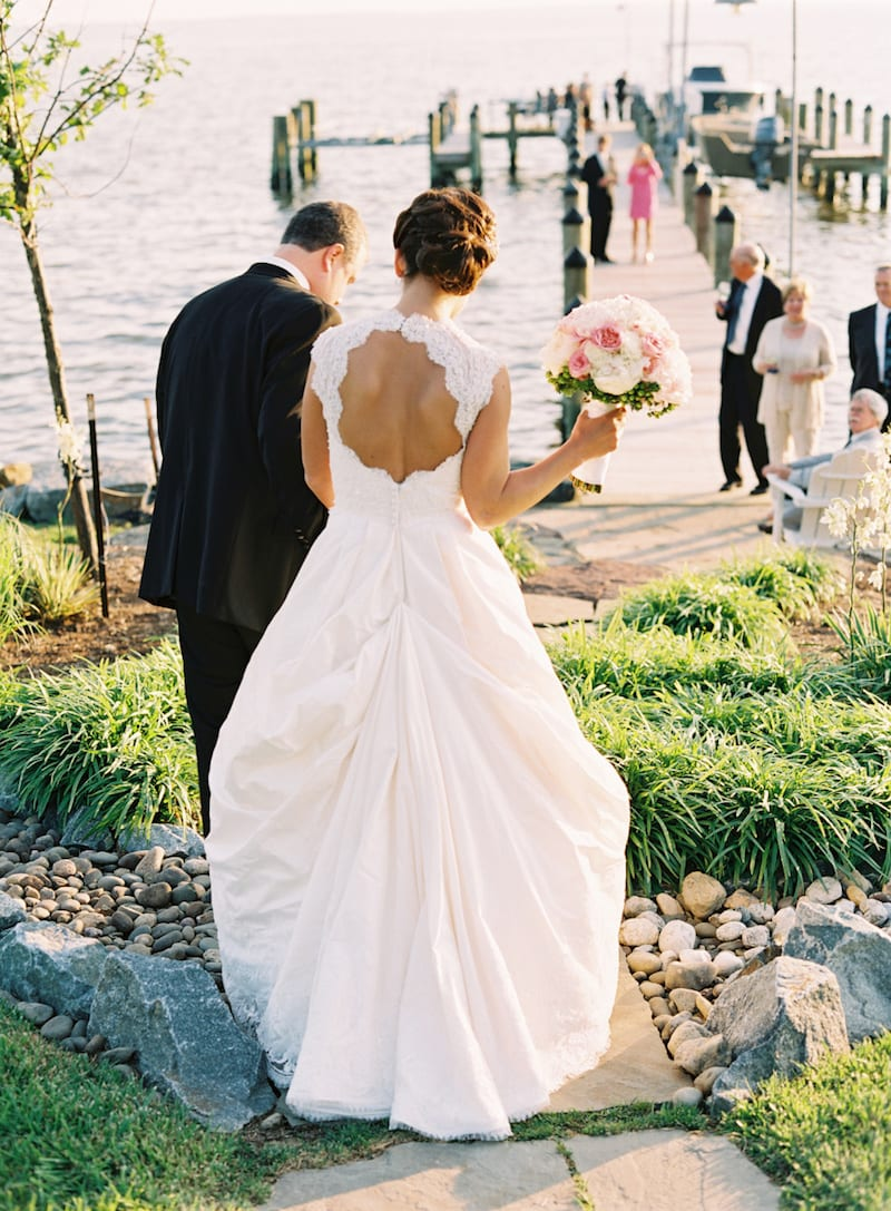 bridal dress bustle