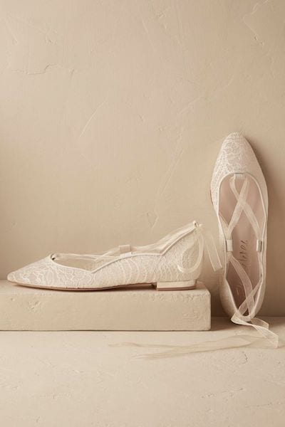bridal shoes should be flats