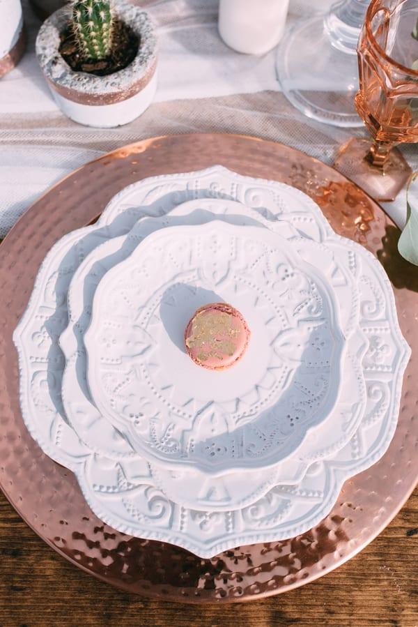 pink rose copper wedding inspiration