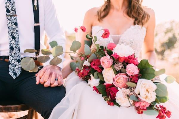 pink rose copper wedding color-scheme