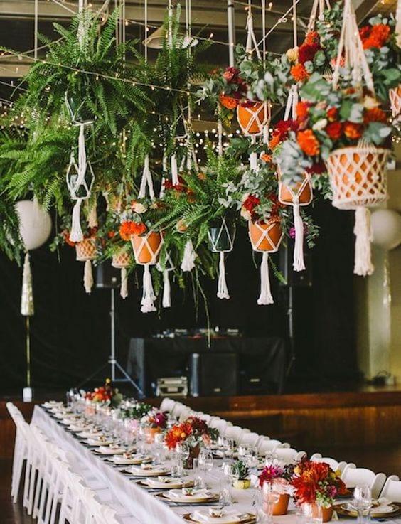 planter hangers for event decor