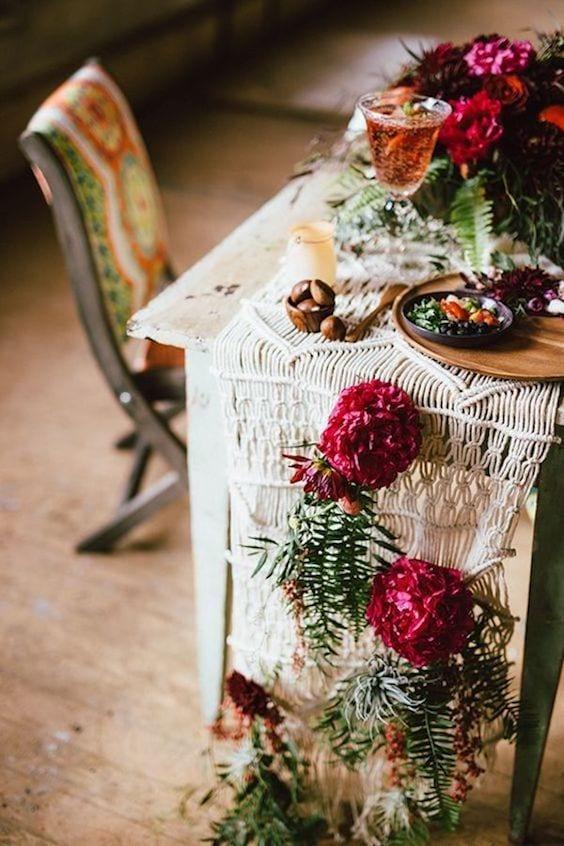 wedding decor for boho wedding