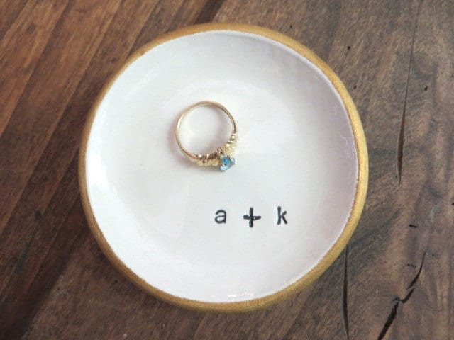 monogram ring dish for wife