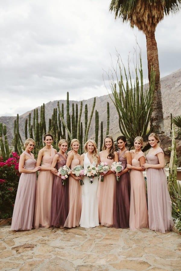 mix match vs matching bridesmaid dresses