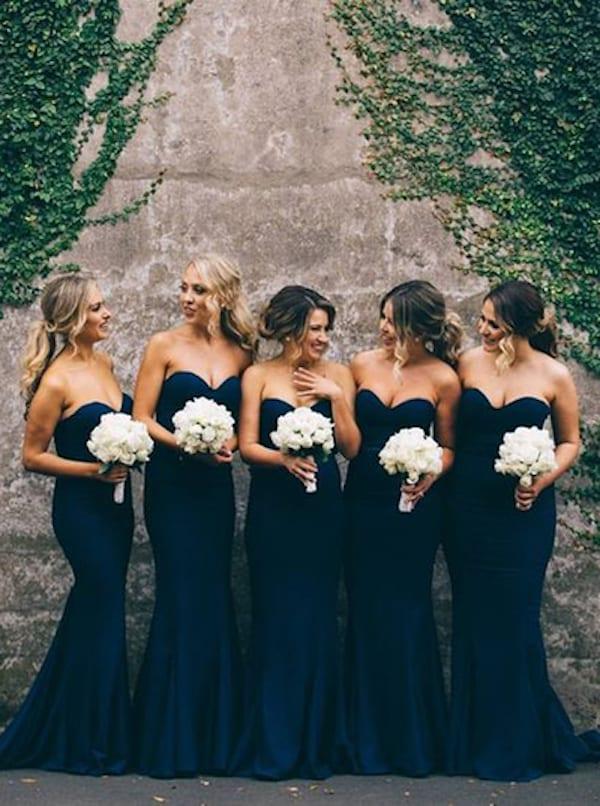 mix match v matching bridesmaid gowns