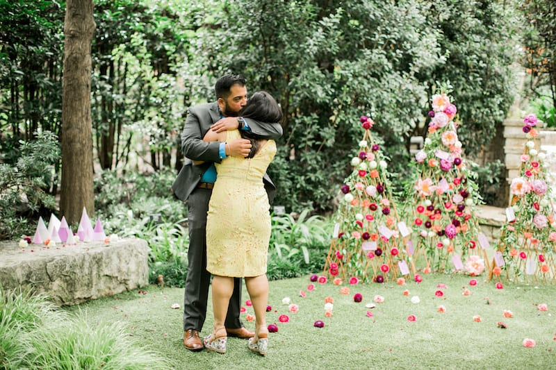 couple after engagement celebration