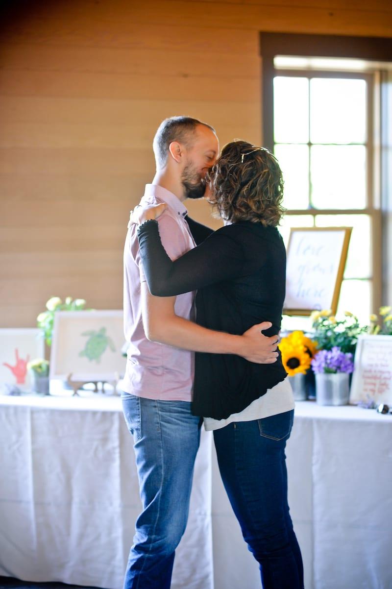 proposal in wine barn