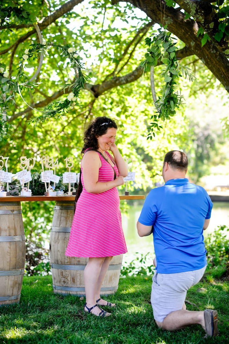 Northern California wedding engagement