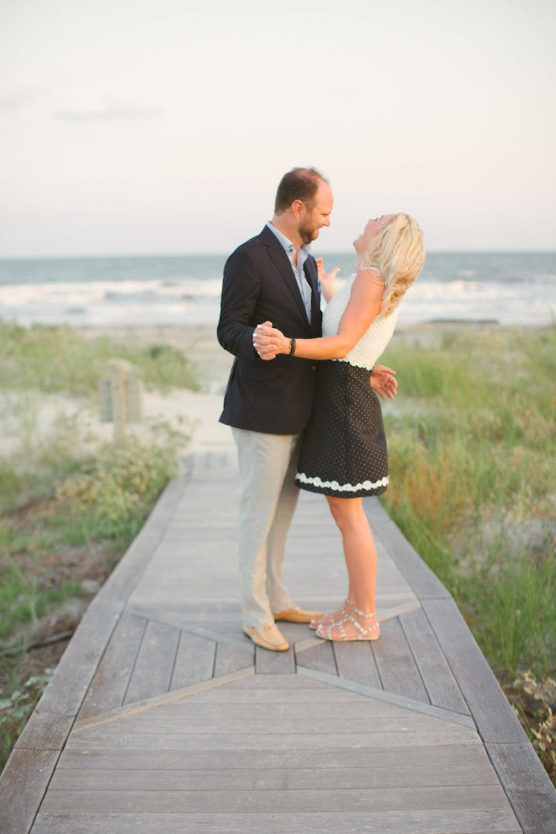 engaged on Kiawah island