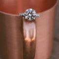 ring shot at engagement party
