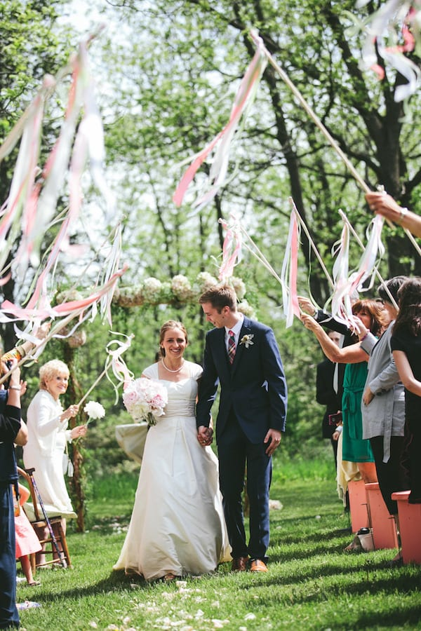 colorful wedding send off