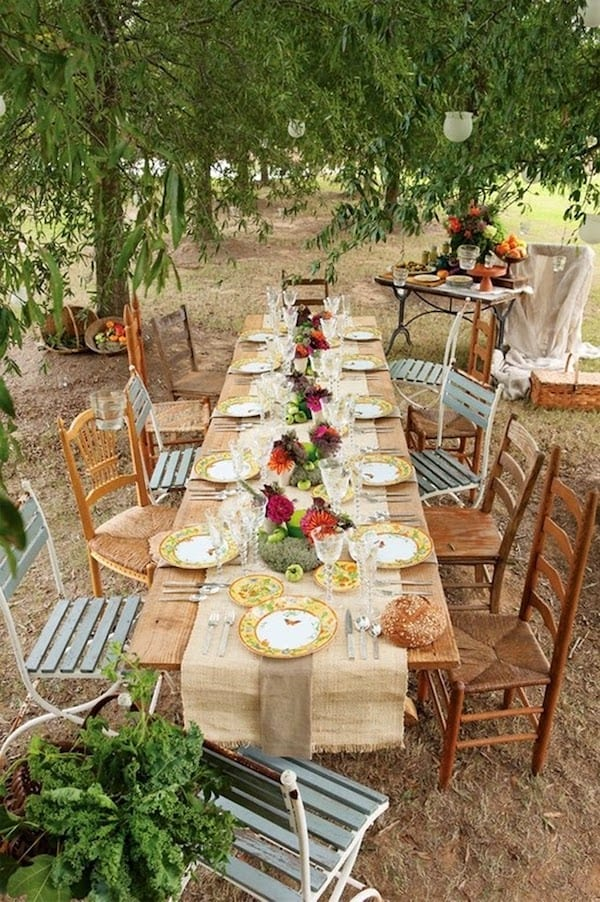 brunch wedding table