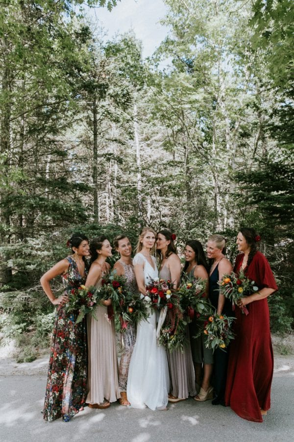 mix match vs matching bridesmaid dresses