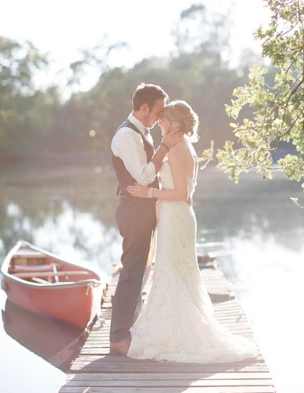 morning light bride and groom