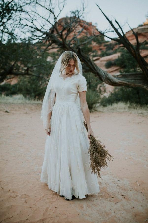 vintage inspired bridal dress