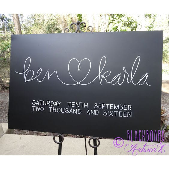 ideas for the welcome sign at your wedding ceremony