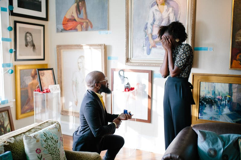 art gallery engagement