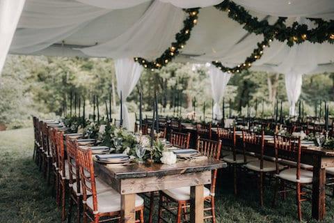 fall winter decor wedding