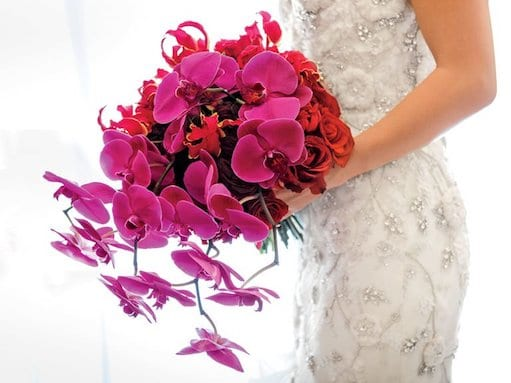 luxurious pink bridal bouquet
