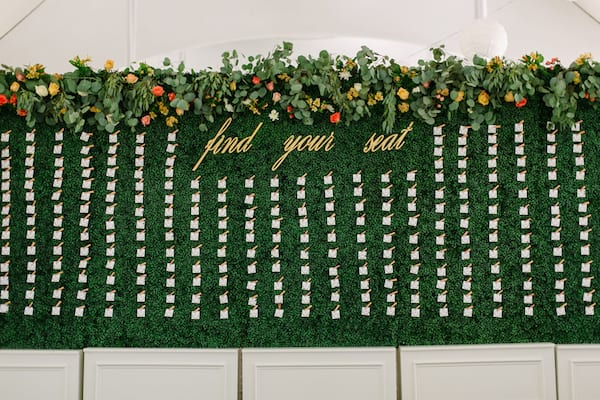 moss escort card wall