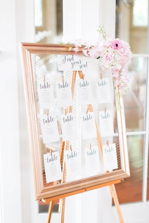 unique wedding escort card tables