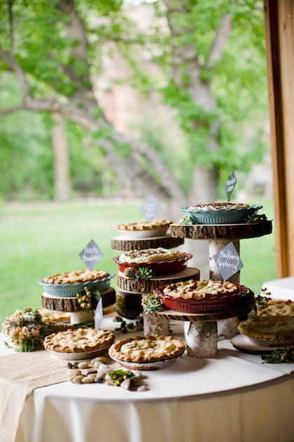 pie instead of cake at wedding