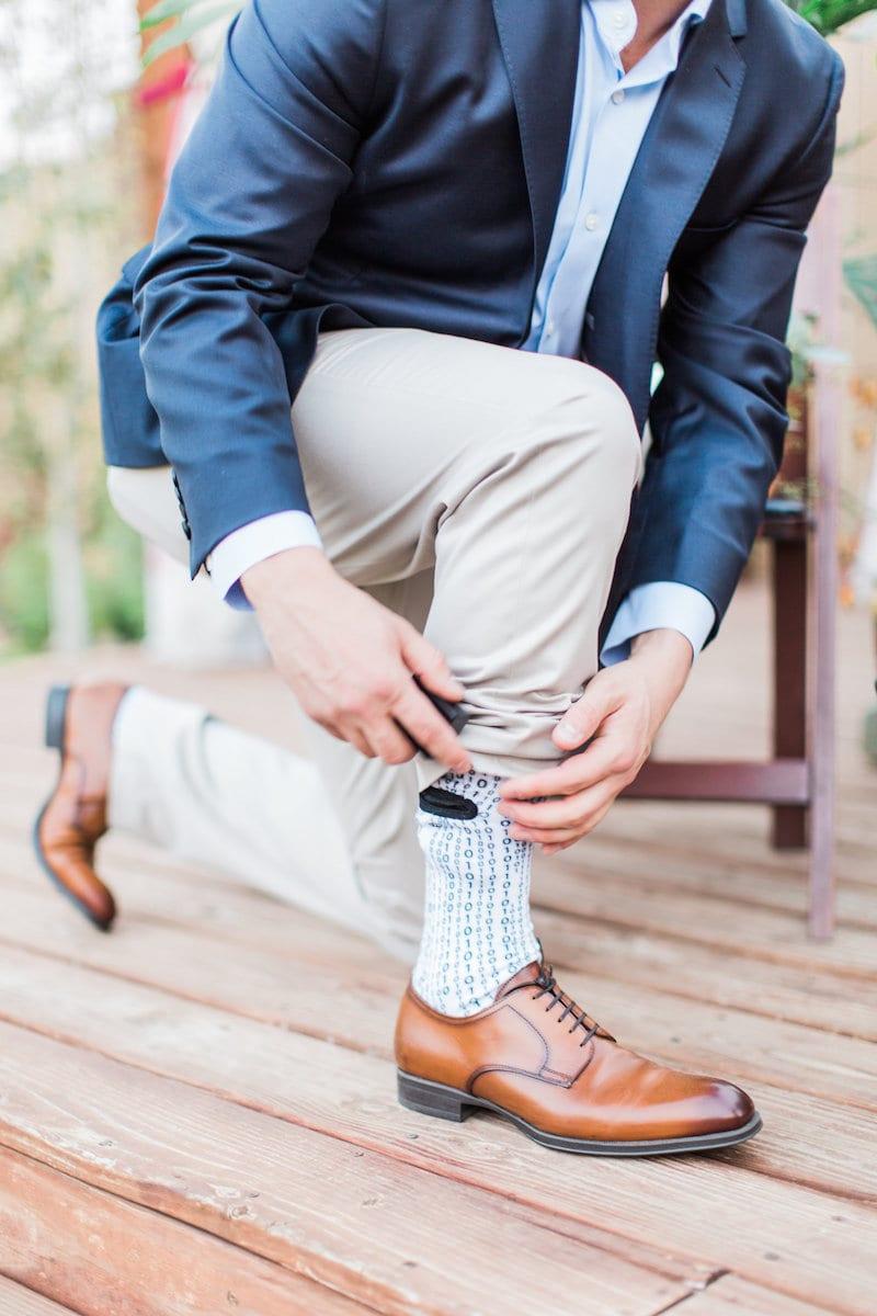 sock that hides engagement ring box