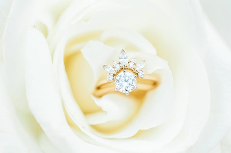 engagement ring with separate band halo