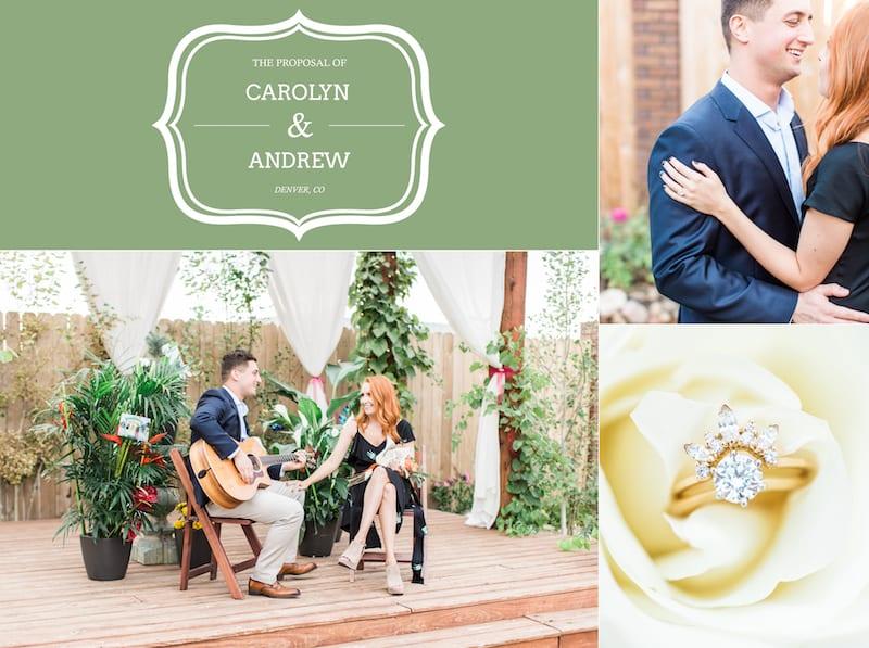 Concert Marriage Proposal in Denver
