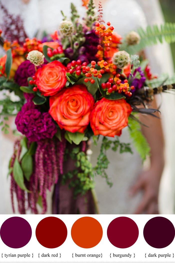 autumn bouquet with berries