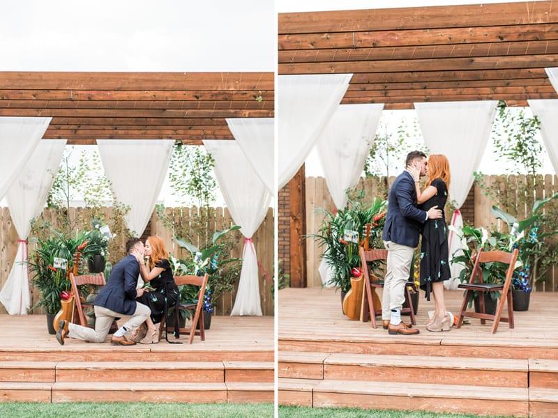 engagement at concert at Denver winery