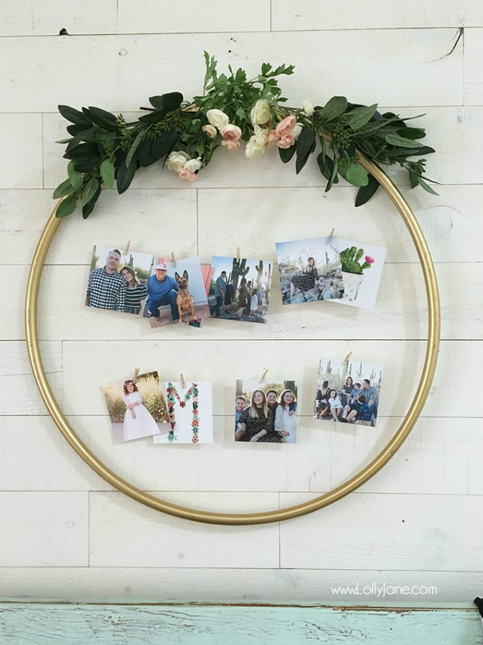 show off pictures at proposal