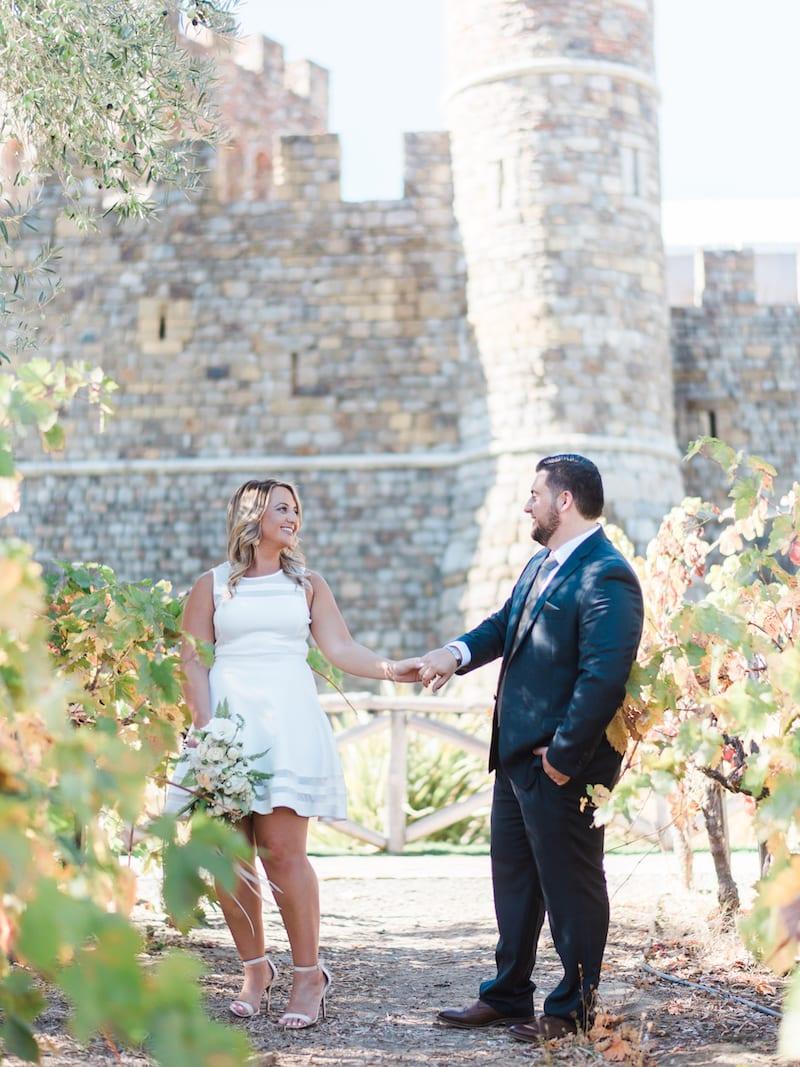 castello di amorosa winery engagement photos