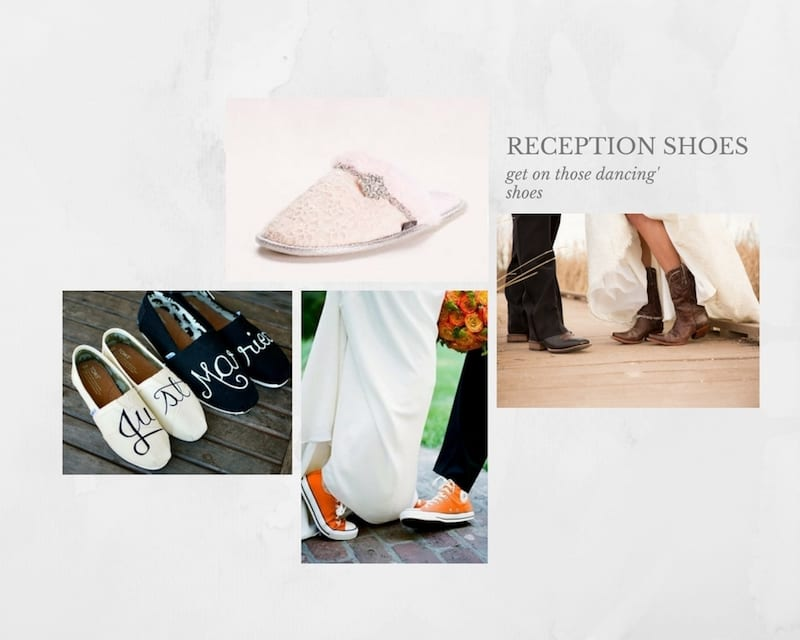 reception shoes for your wedding