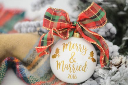merry and married ornament