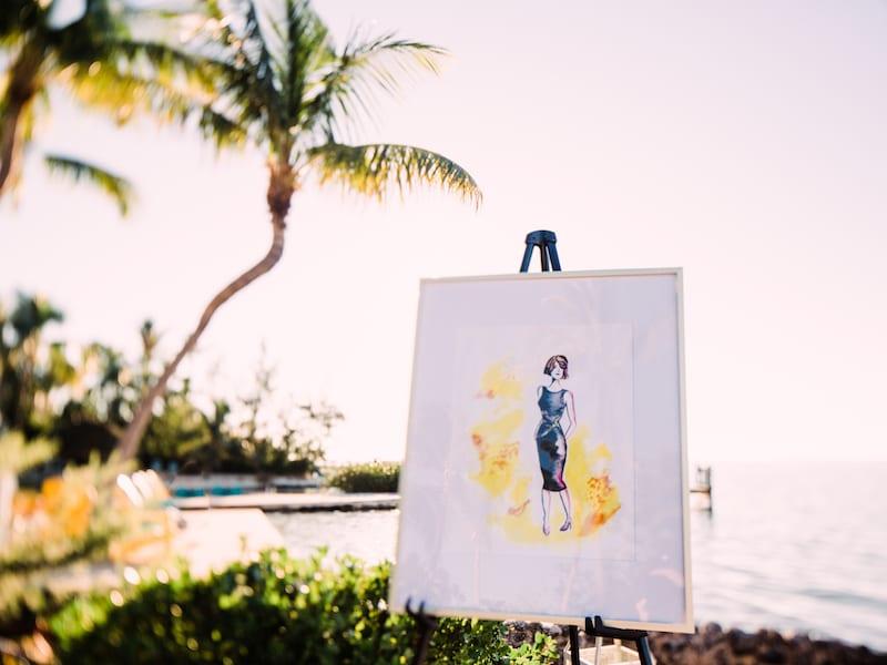 Florida beach proposal with fashion involved