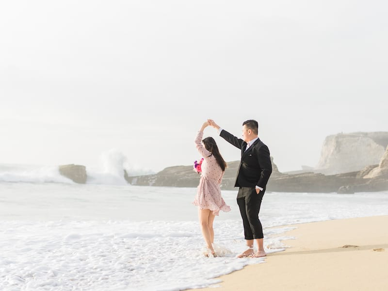 beach proposal in Northern California