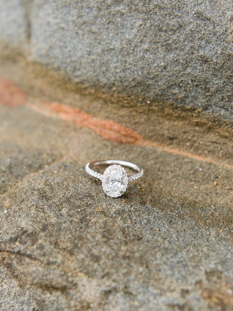 halo diamond ring in Santa Cruz