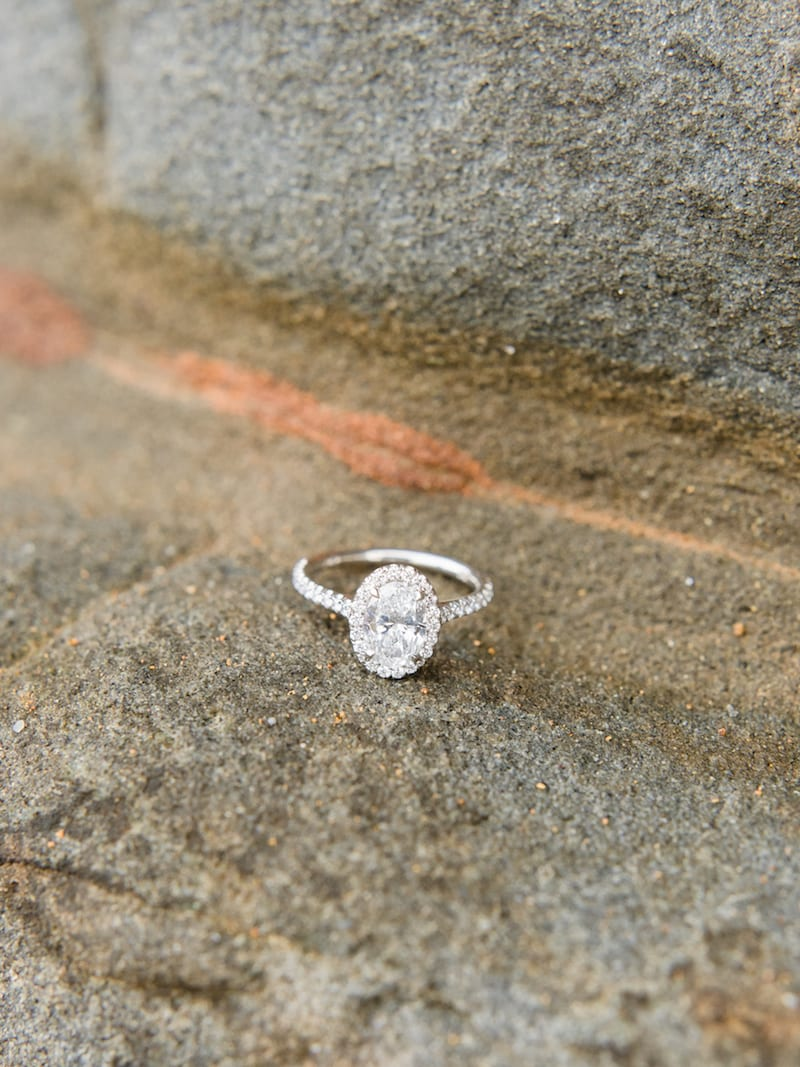 halo diamond ring in Santa Cruz