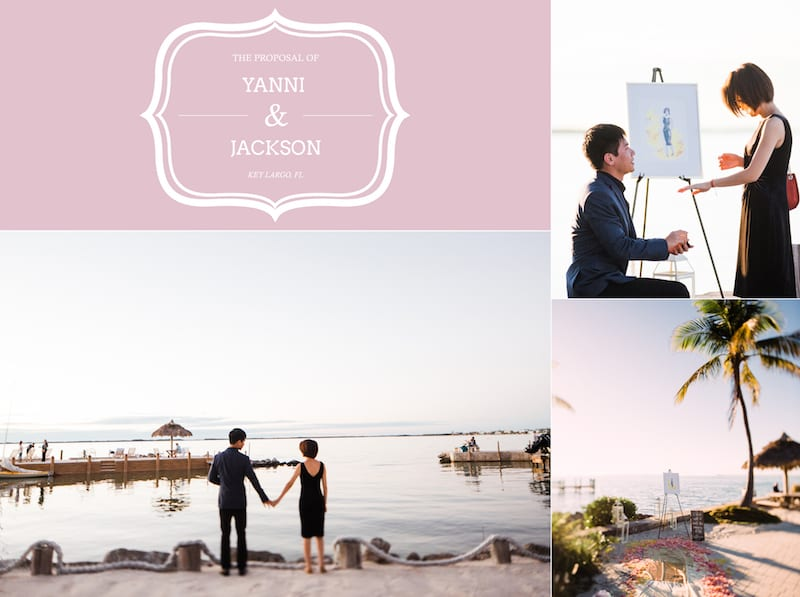 proposal on the beach in key largo, fl