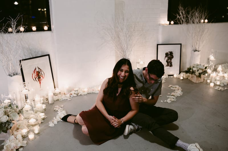 San Francisco loft wedding proposal
