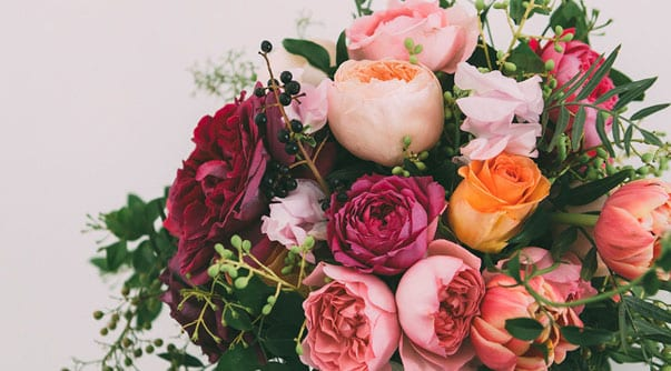 berry pinks bridal flower recipes