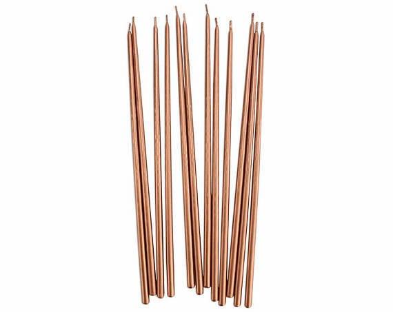 rose gold candle sticks