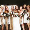keep bridesmaids warm during winter wedding