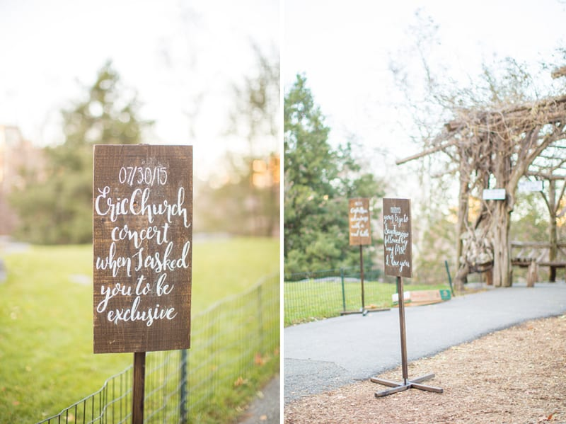 wooden calligraphy sign with date