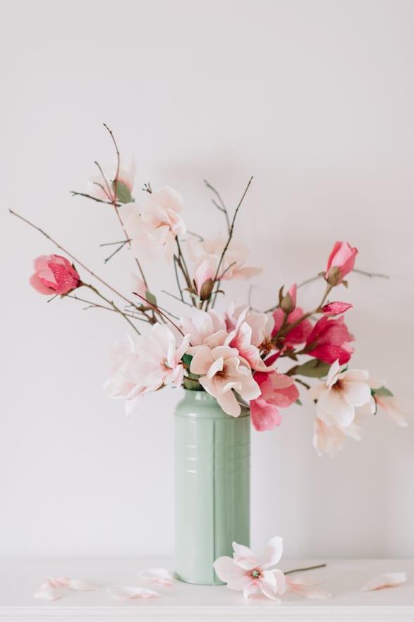 paper flower proposal decor
